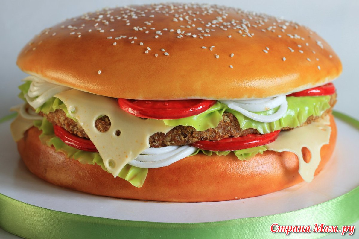 Торт гамбургер мастер класс фото