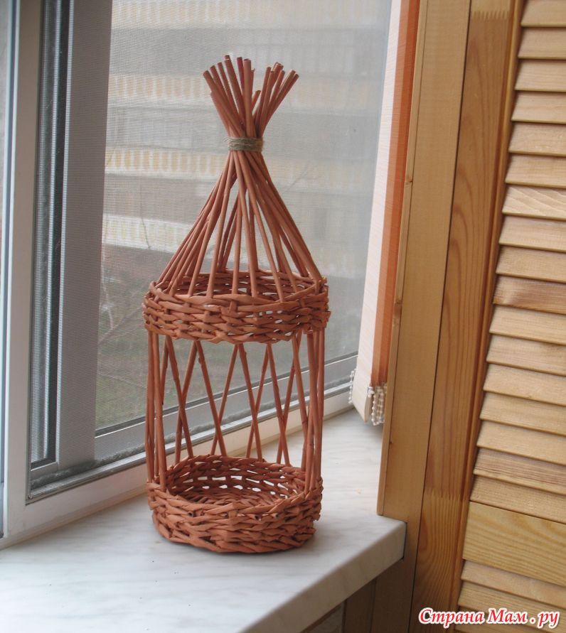 Плетеный домик для птиц своими руками 74