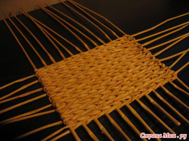 Мастер класс плетения корзинки