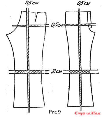 Как уменьшить выкройку брюк