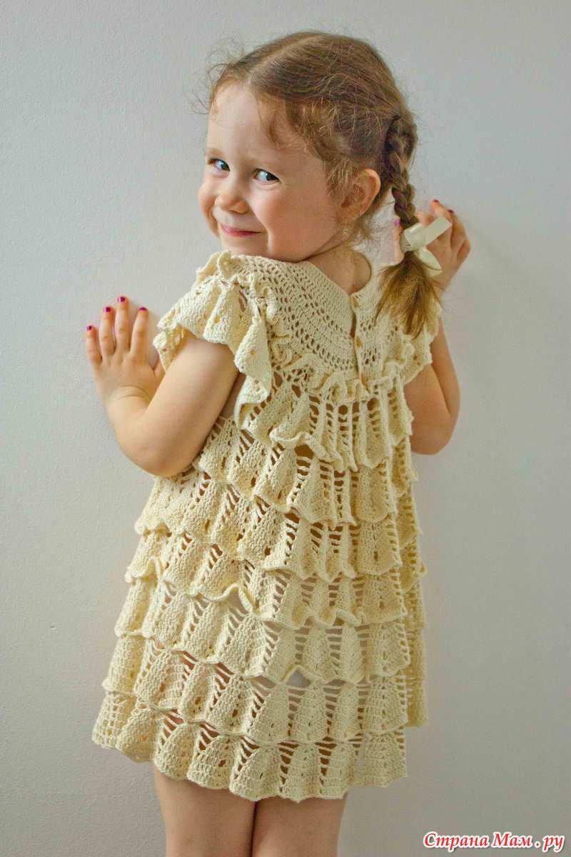 Платье на девочку колокольчик