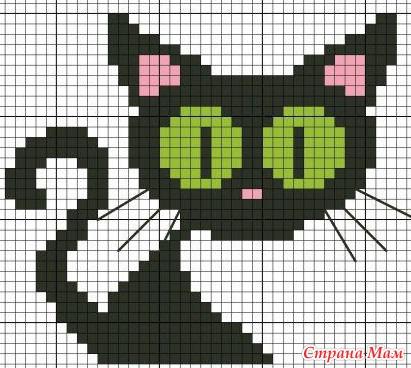 Нашла много схем разных кошек