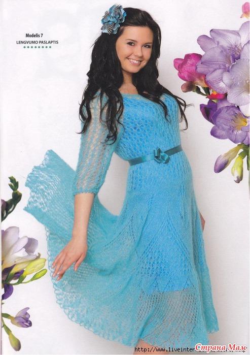 Вязаные платья из мохера схемы