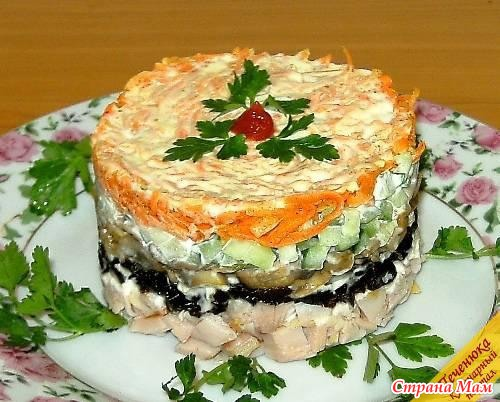 Салат обжорка слоеный рецепт
