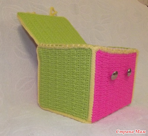 Как обвязать крючком коробку из картона своими руками