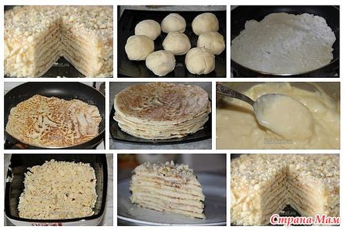 Торт на сковороде без яиц пошаговый рецепт