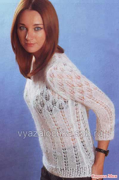 Модели пуловеров из мохера