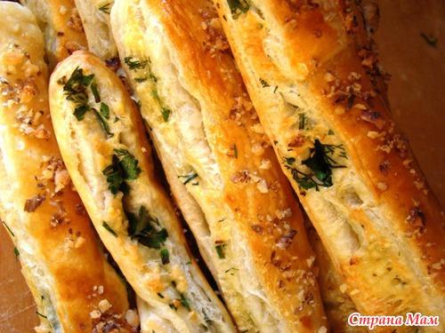Сырные палочки слоеное тесто рецепт пошагово