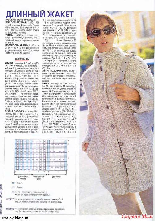 Вязание жакетов пальто