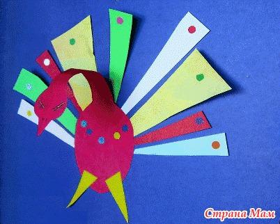 Птицы из бумаги  в старшей группе