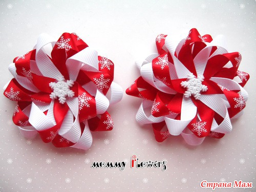 Бантики из лент на новый год своими руками