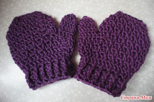 Варежки крючком - Вязание для