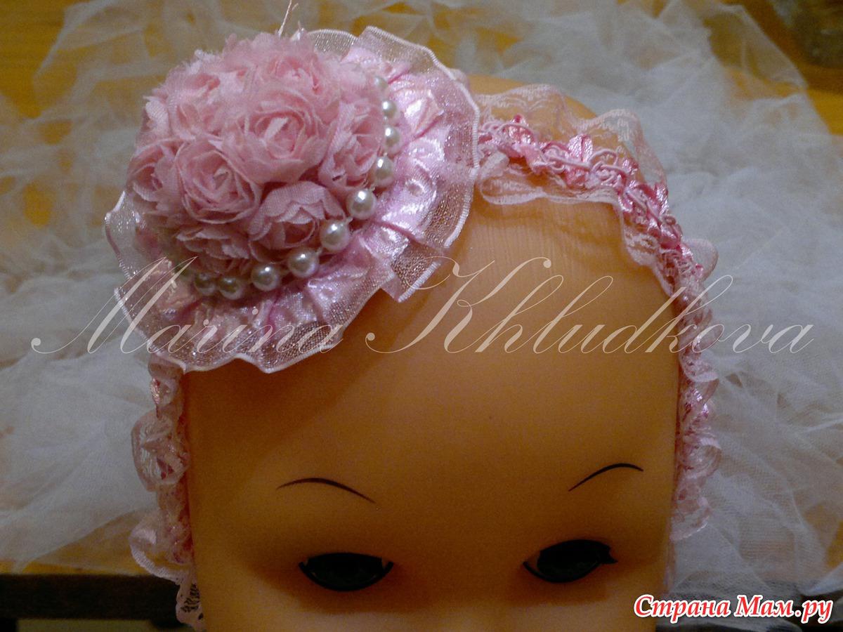 Повязка на голову для девочки своими руками из атласных лент мастер 85