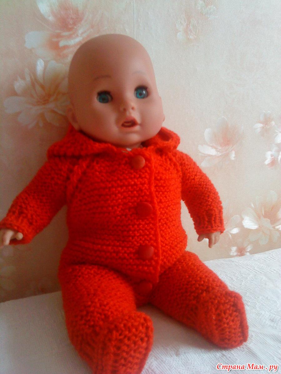 Вяжем для кукол спицами штанишки