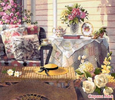 """01533 """"Утренний чай"""" гобелен"""