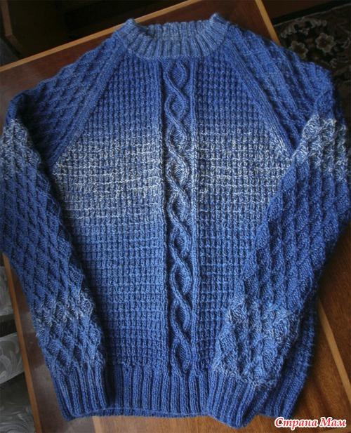 Вяжем свитер большого размера 157