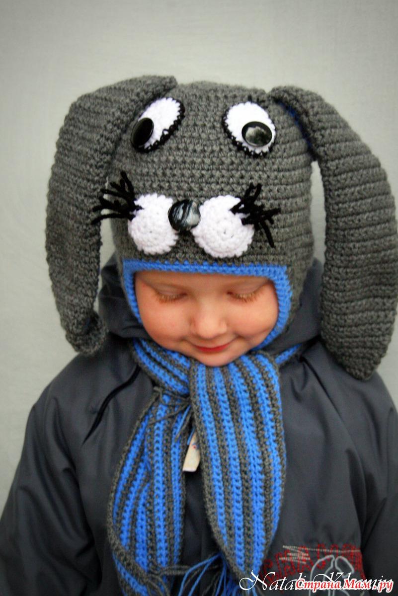 схемы для вязания шапок в виде зверюшек