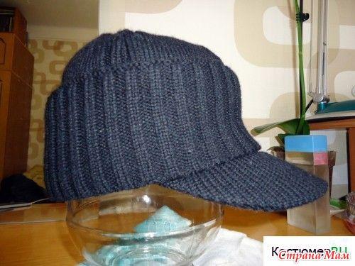 Как пришить козырек к вязаной кепке