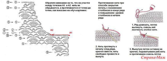 Как уменьшить горловину при вязании крючком