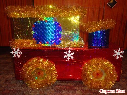 Большая новогодняя игрушка своими руками на уличную елку фото