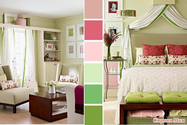 Сочетание цвета в интерьере фото