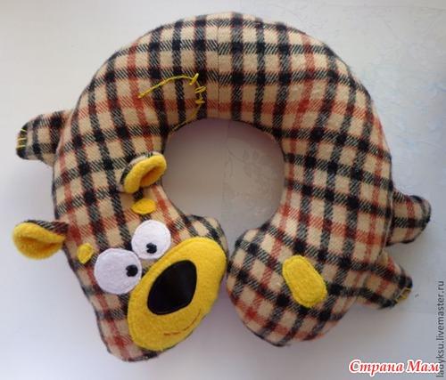 Дорожная подушка для ребенка своими руками 2