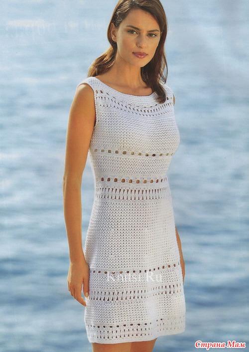 Связать летнее платья крючком