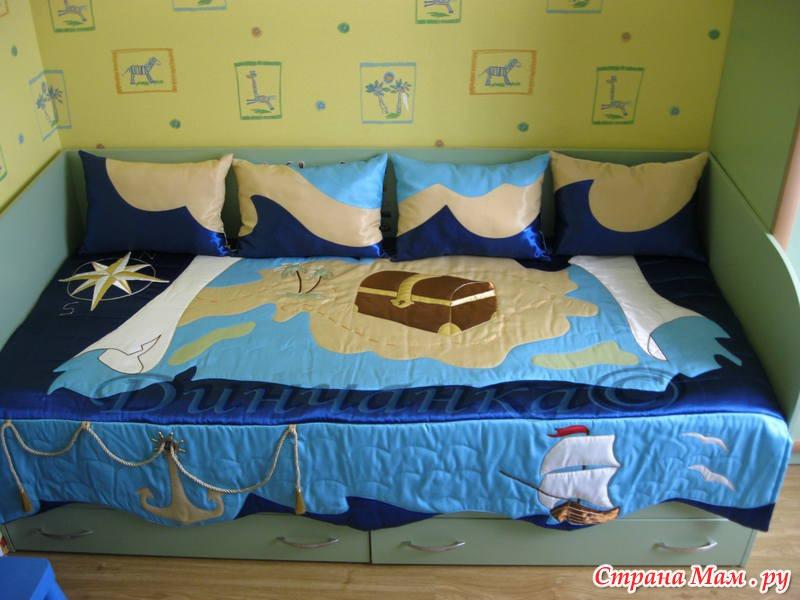 Детские покрывала на кровать для мальчика своими руками фото