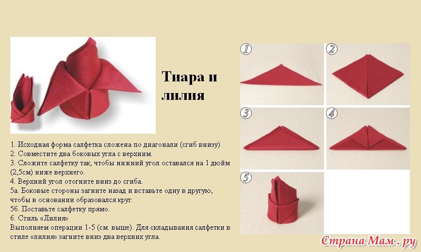 Как красиво сделать салфетки на стол бумажные в салфетницу
