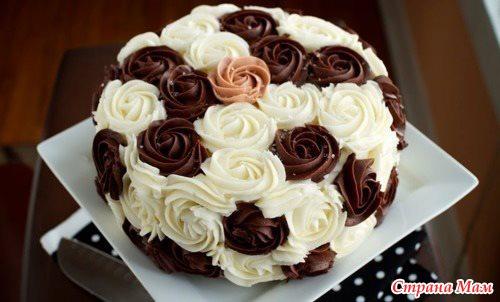 Как сделать из крема розы на торт
