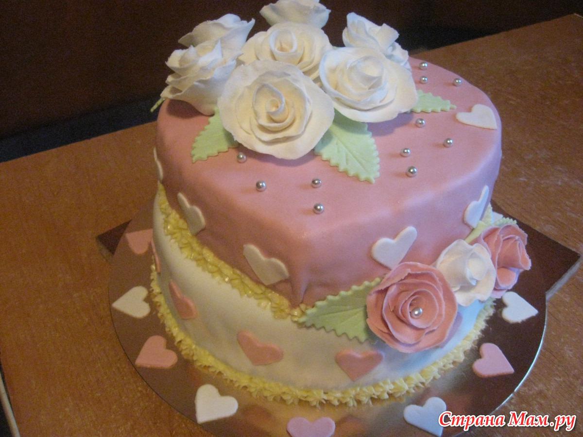Торт на серебряную свадьбу своими руками