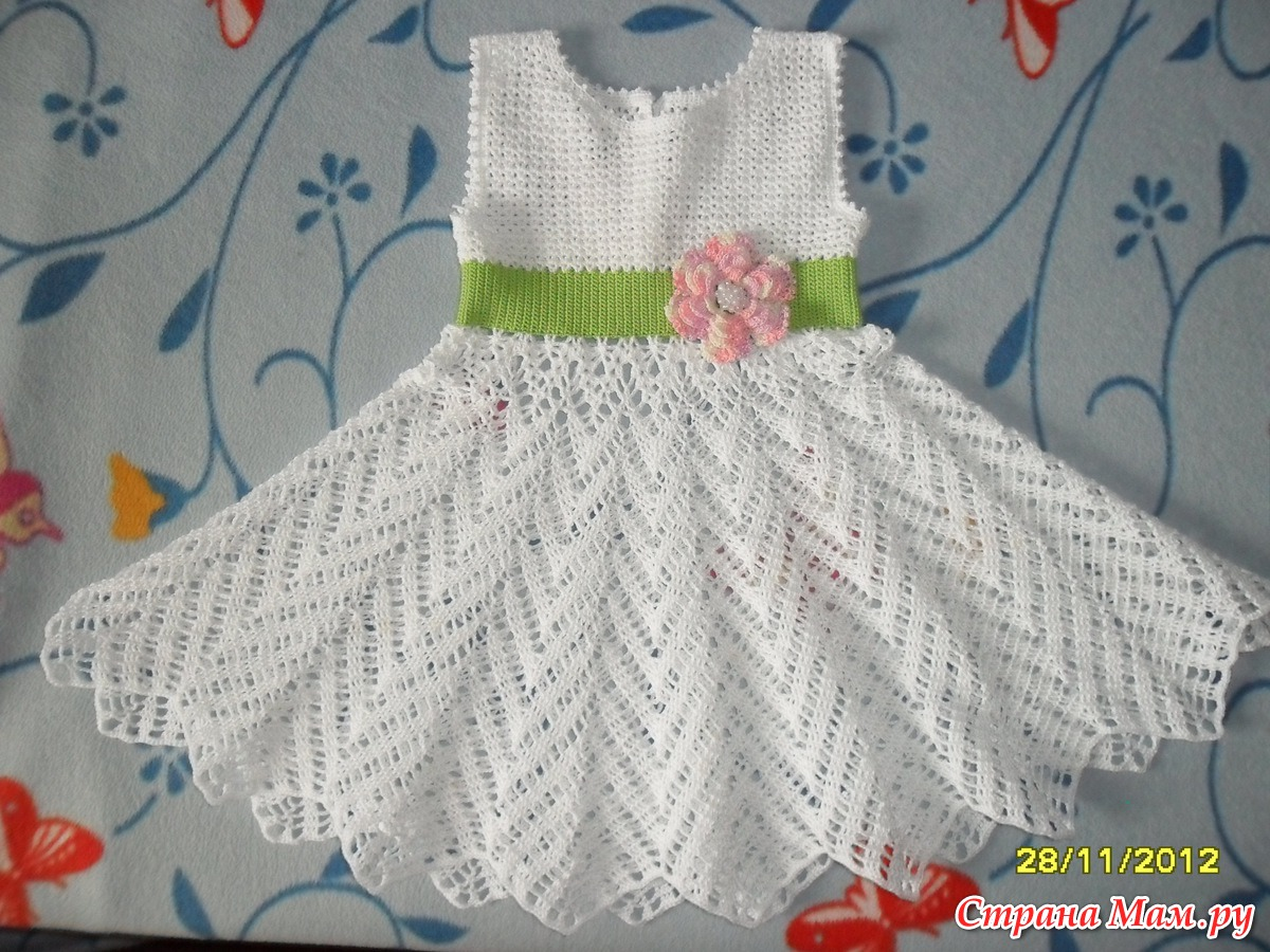 Мастер класс вязания спицами платьев на девочек