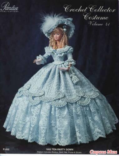 платье для барби связанное