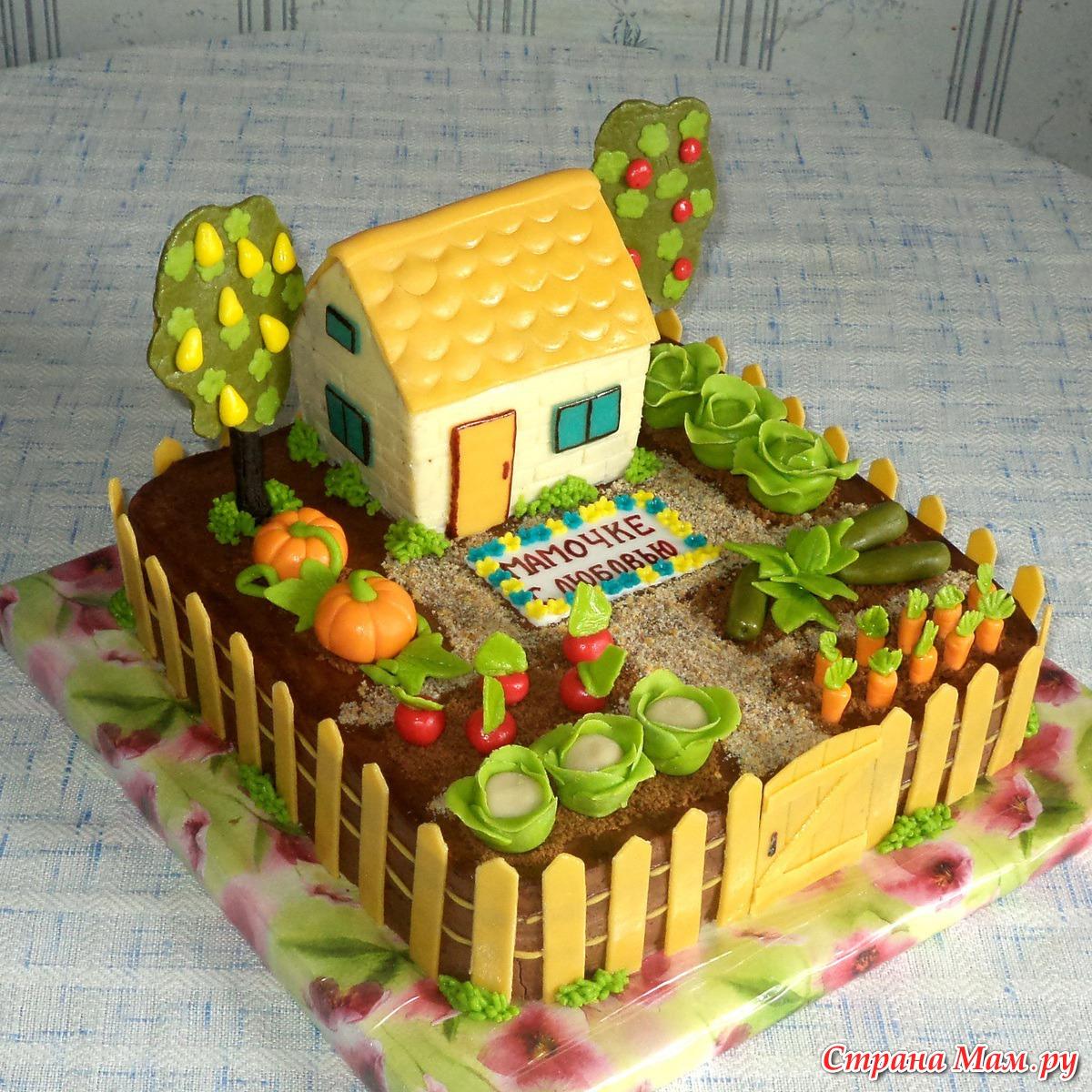 Торт на даче