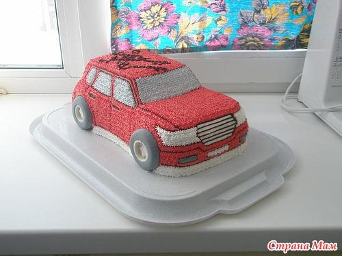 Торт машинка мастер класс из крема