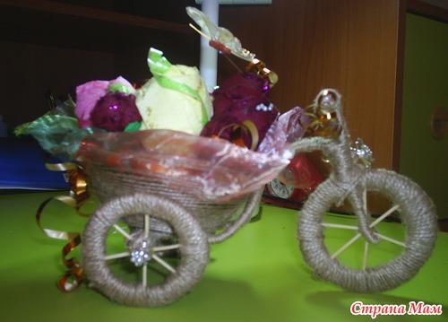Поделка в сад велосипед