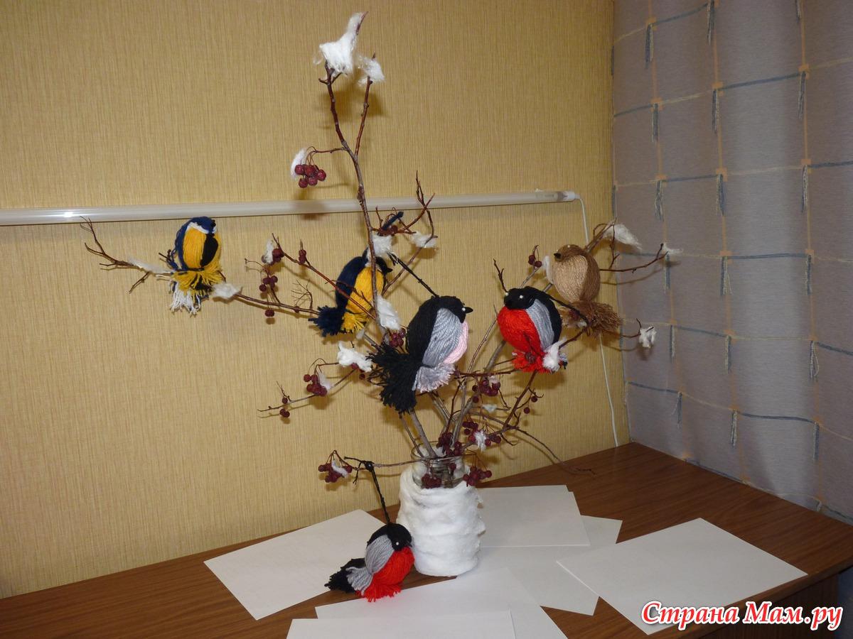 Поделки в садик на тему зимующие птицы