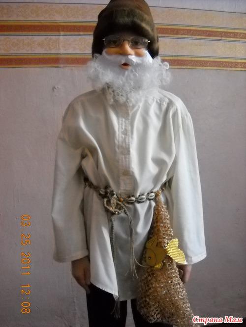 Как сделать бороду дедушки из сказки своими руками