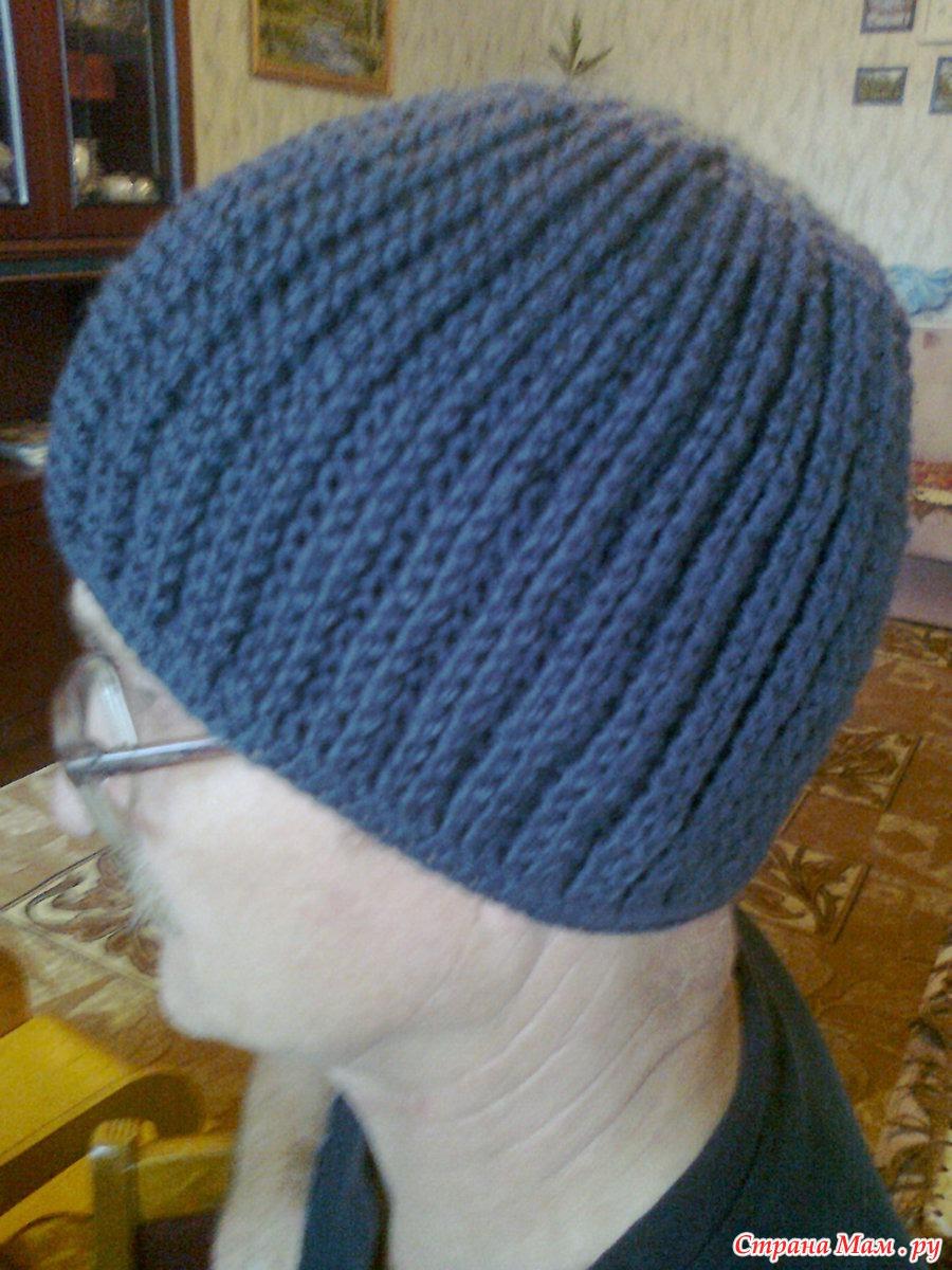 Воплощение мужской шапки Зигзаг Удачи от Людмилы Шульга