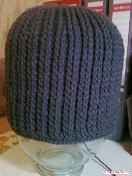 вязания крючком схемы шапок мужские