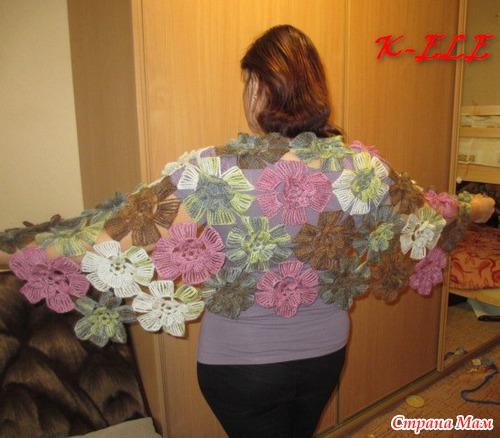 Вот схема шали, только цветок