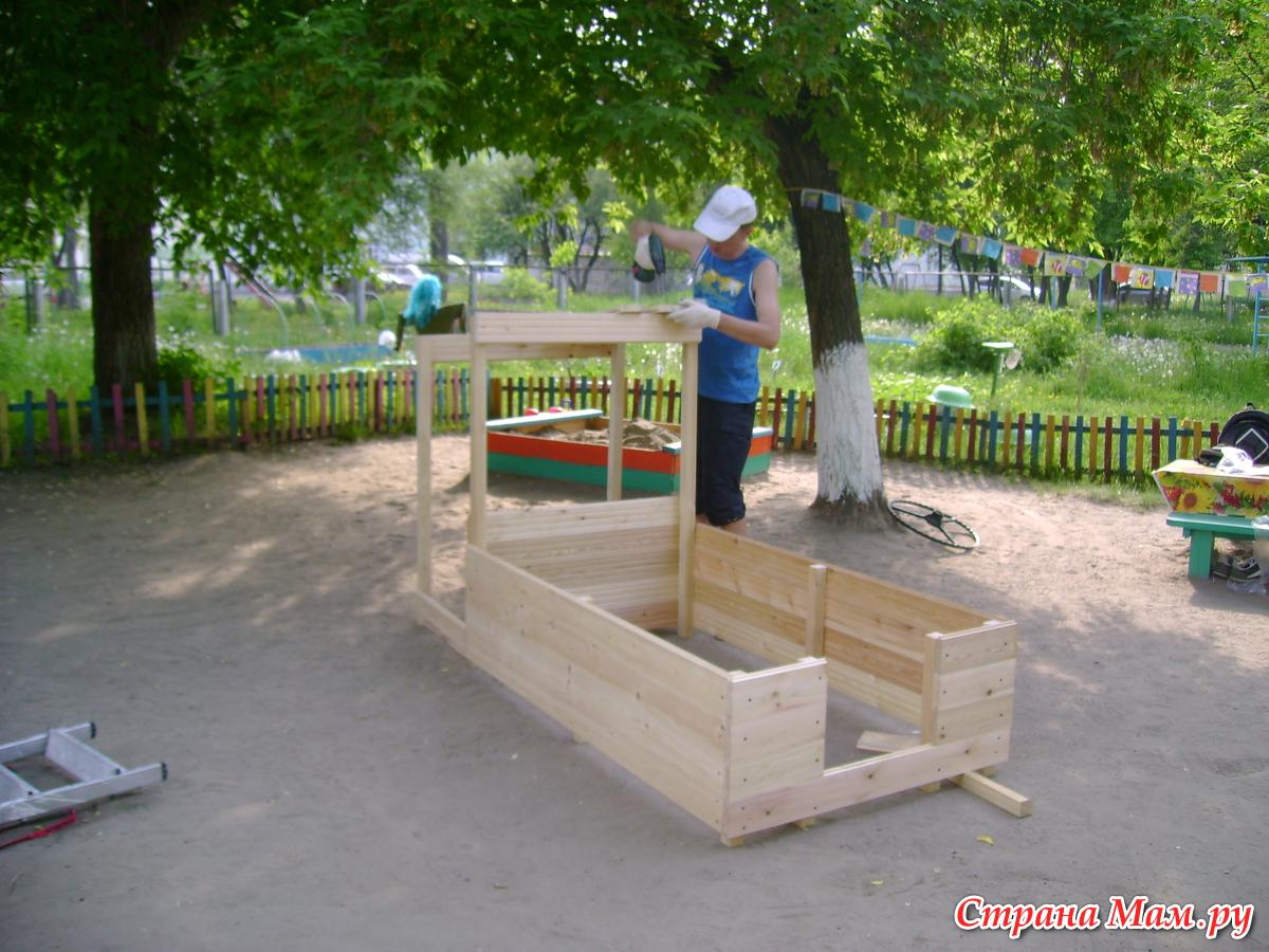 Как сделать машинку на детскую площадку фото