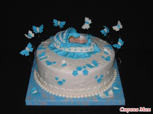 Торт для мальчика на годик своими руками