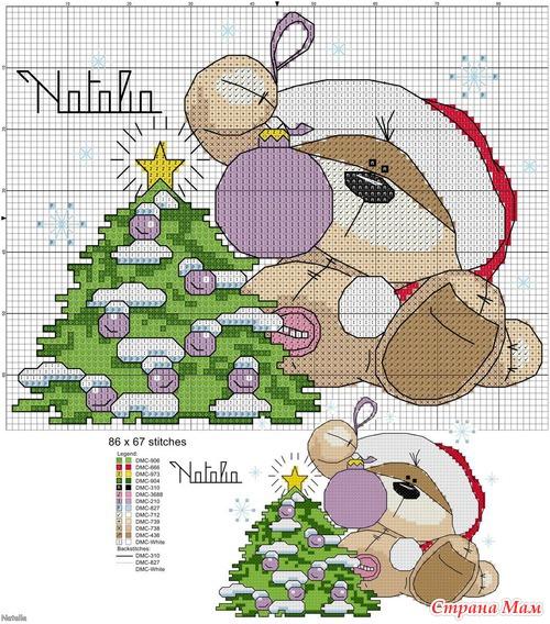 Схемы новогодних мишек Физзи