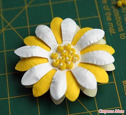 Объемный цветок своими руками фото