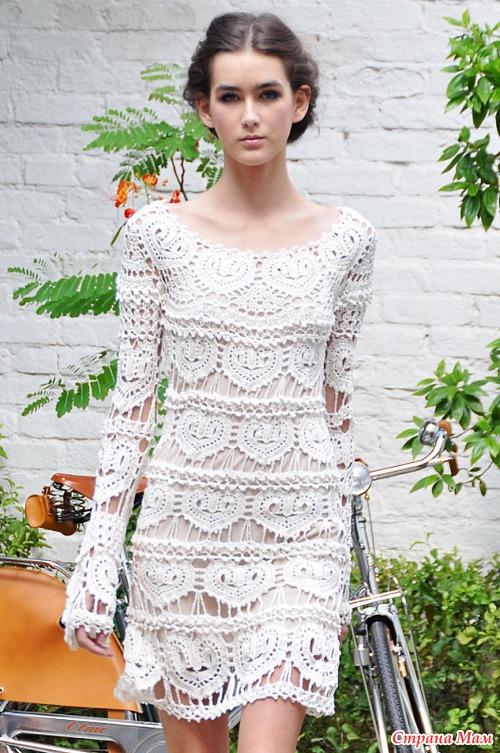 Схема платье сердечки