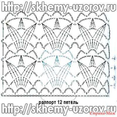 Схема узора шарфика: