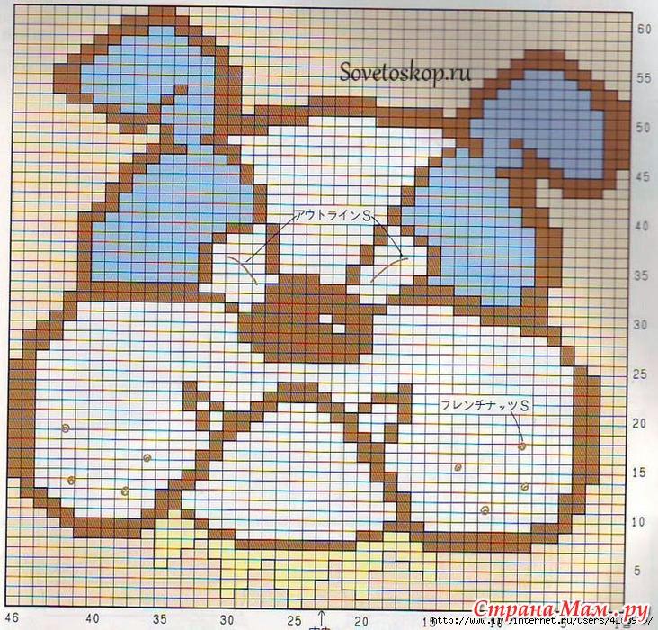 Вязание орнамента собаки