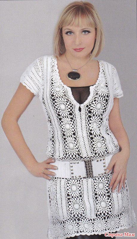 вязаные платья для детей со схемами 2013