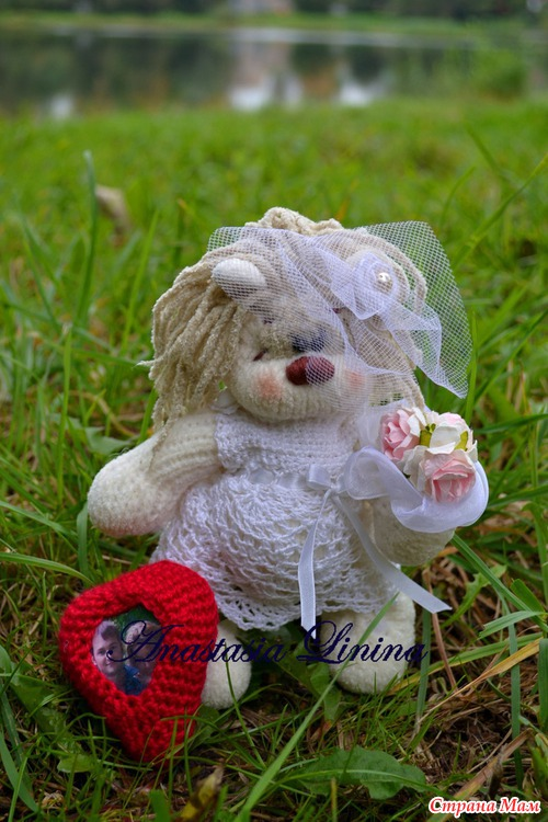 Вязание свадебных мишек